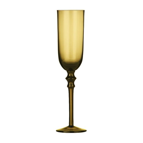 Set 4 sklenic na šampaňské Smoke Amber