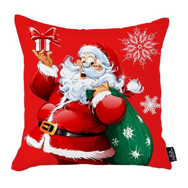 Červený vánoční povlak na polštář Apolena Honey Christmas Santa Claus, 45x45cm