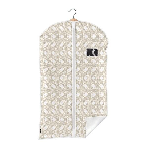 Béžový obal na oblek Domopak Ella, dĺžka 100cm