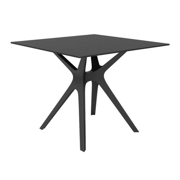 Černý jídelní stůl vhodný do exteriéru Resol Vela, 90 x 90 cm