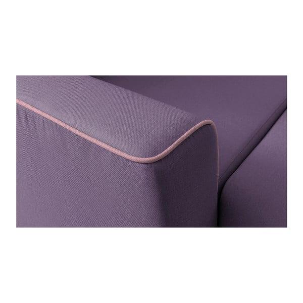 Canapea extensibilă, cu șezlong pe partea stângă Bobochic Paris Mola, mov