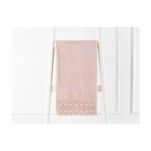 Prosop din bumbac Madame Coco Soft Cotton, 50 x 76 cm, roz