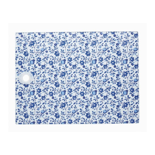 Prkénko Blue Floral Pattern, 40x30 cm