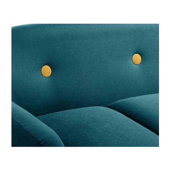 Colțar cu șezlong pe partea dreaptă Scandi by Stella Cadente Maison, albastru