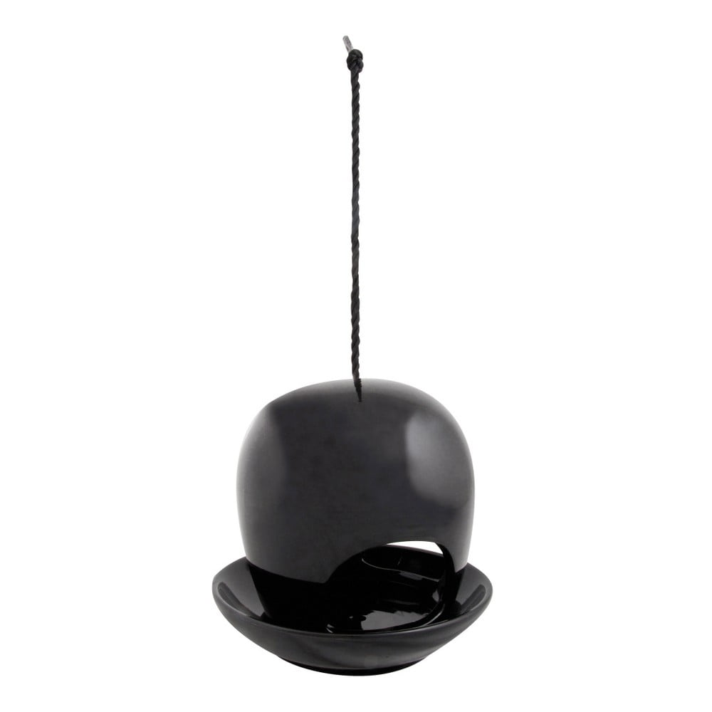 Černé keramické krmítko Esschert Design, ⌀18cm