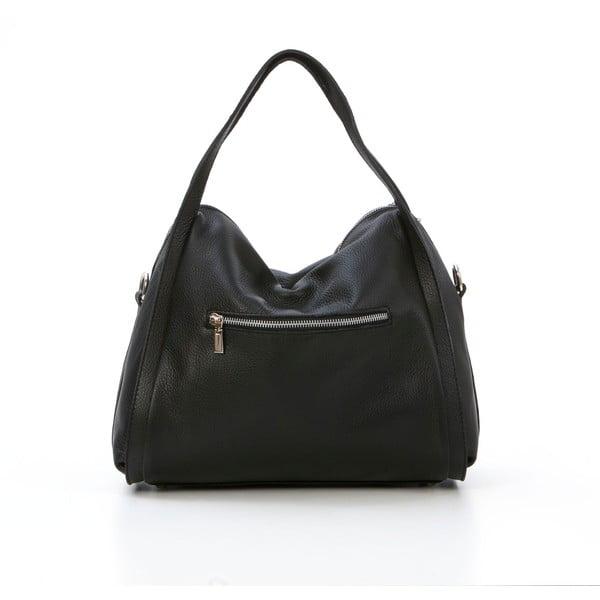Kožená kabelka Riccardo, černá