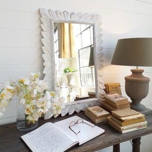 Zrcadlo Mahogany White Antique