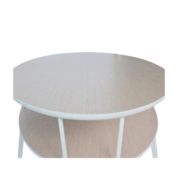 Konferenční stolek s bílými nohami RGE Leon, šířka150cm