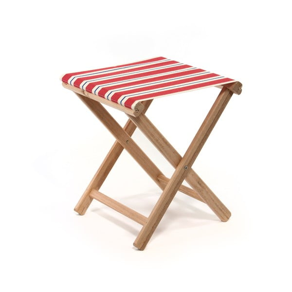 Skládací stolička Beach, červené proužky