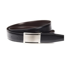 Černý kožený pásek Trussardi Modica, délka 110 - 125 cm