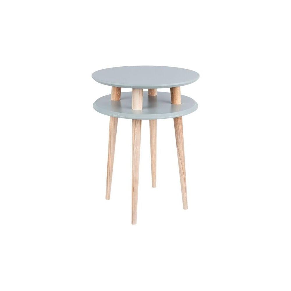 Tmavě šedý konferenční stolek Ragaba UFO, ⌀ 45 cm