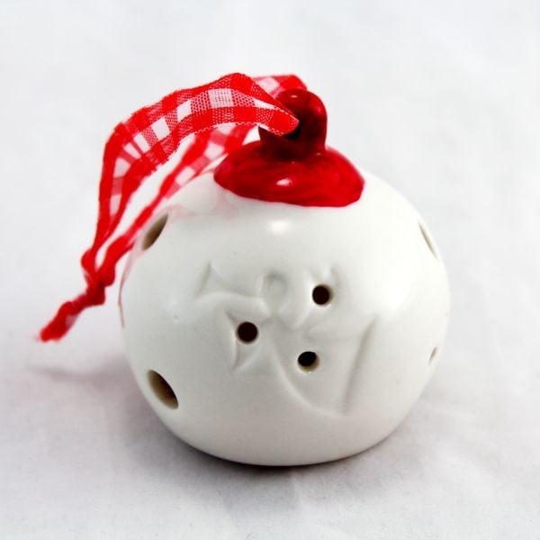Porcelánové závěsné koule II, 2 ks