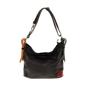 Černá kožená kabelka Pitti Bags Coretta