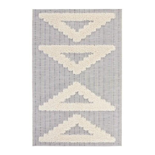 Handira Triangles szürke szőnyeg, 170 x 115cm - Mint Rugs