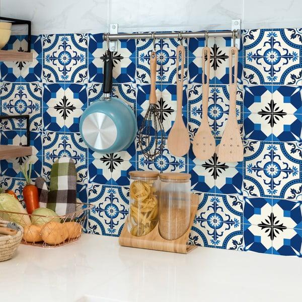 Set 24 autocolante de perete Ambiance Tiles Zina, 10 x 10 cm