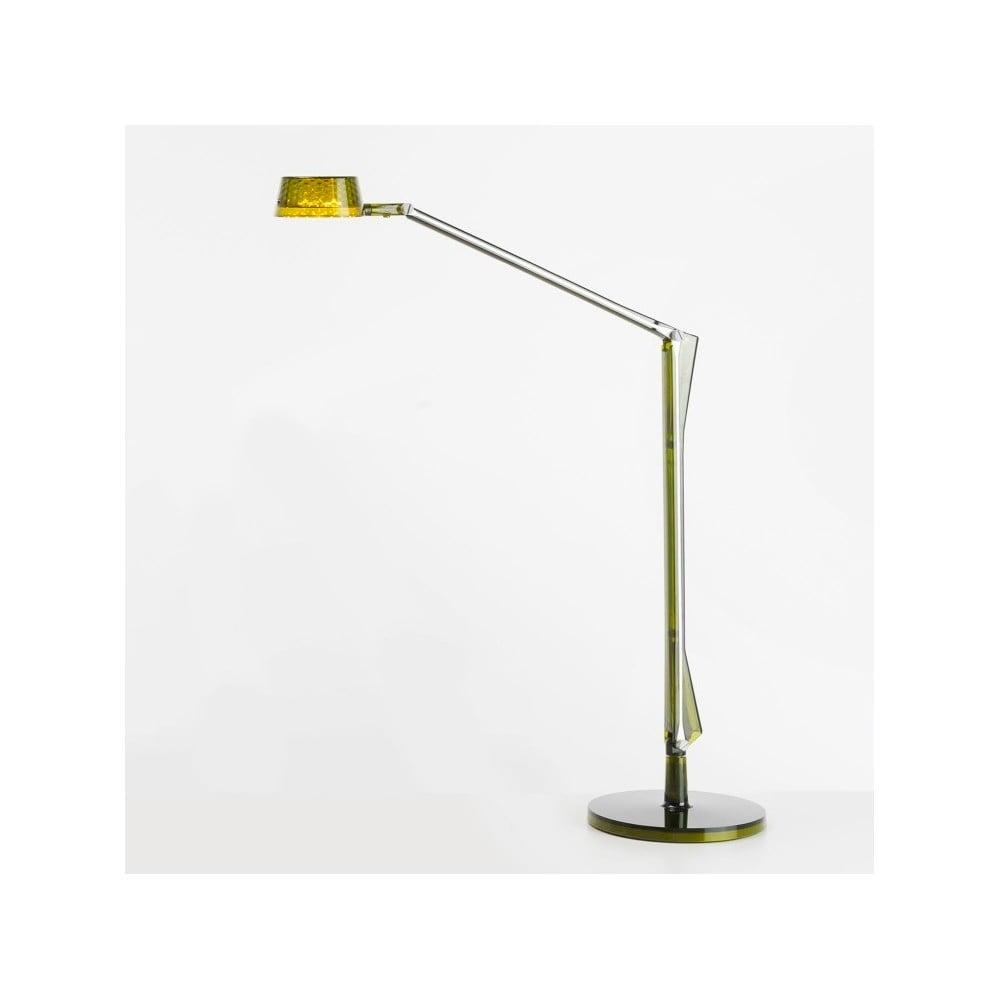 Zelená transparentní stolní polohovatelná lampa Kartell Aledin Dec