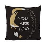 Polštář Black Shake So Foxy, 50x50 cm