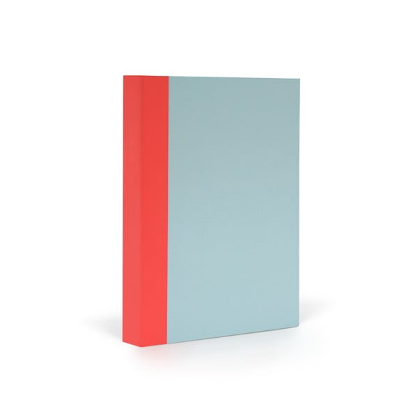 Zápisník FANTASTICPAPER A6 Skyblue/Warm Red, čtverečkový