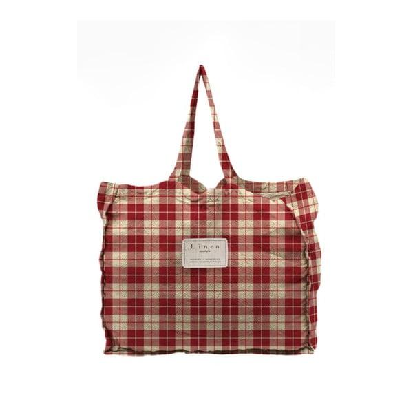 Geantă textilă Linen Couture Linen Bag Cuadros