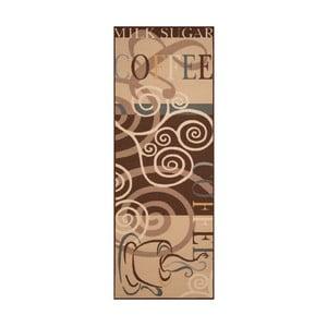 Hnědý běhoun Zala Living Vibes, 67 x 180 cm