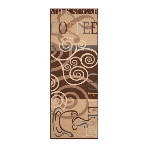 Hnědý běhoun Bougari Vibes, 67 x 180 cm