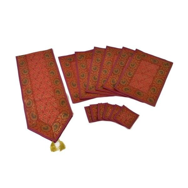 Brokátové prostírání Paisley, červené