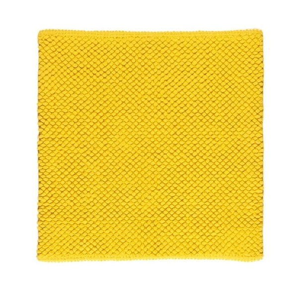 Koupelnová předložka Dotts Lemon Yellow, 60x60 cm