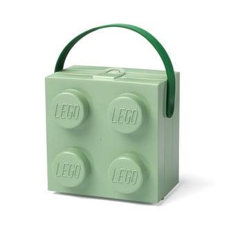 Cutie depozitare LEGO cu mâner, verde imagine