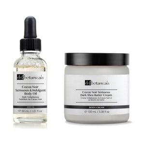 Set cosmetice corp Dr. Botanicals Coco Noir Sensuous & Indulgent Body Oil a Coco Noir Sensuous Dark Shea Butter