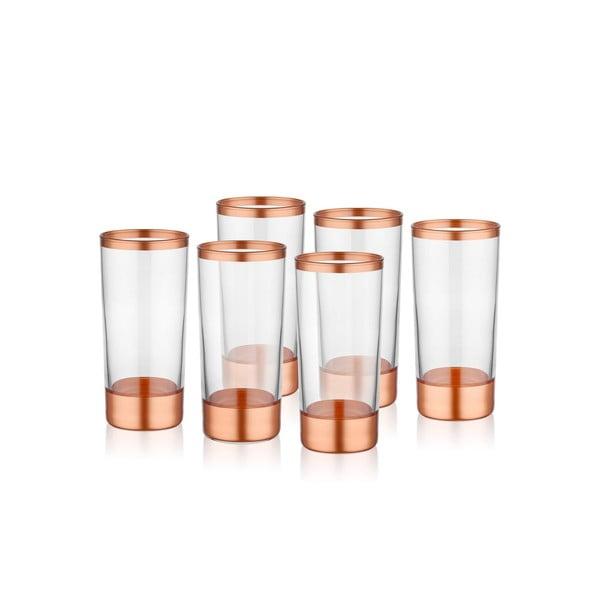 Sada 6 skleniček Mia Glam Bronze, 250 ml
