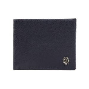 Modrá pánská kožená peněženka Trussardi Marinero, 12,5 x 9,5 cm