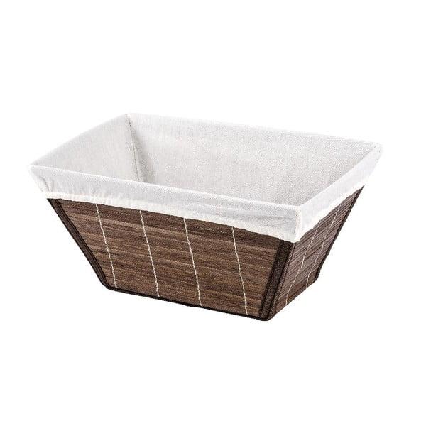 Hnědý bambusový košík Wenko Bamboo, šířka31cm