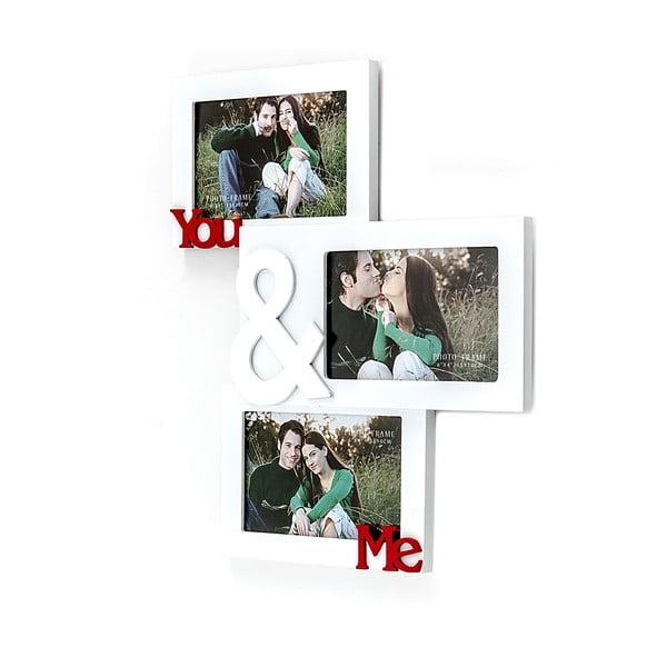 Dřevěný nástěnný fotorámeček Tomasucci You And Me, pro fotografie 10x15cm