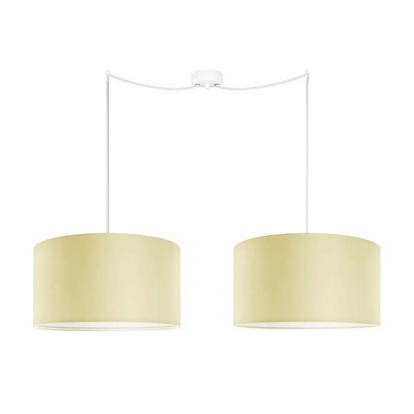 Sada dvou závěsných svítidel Tres, écru, průměr 40 cm