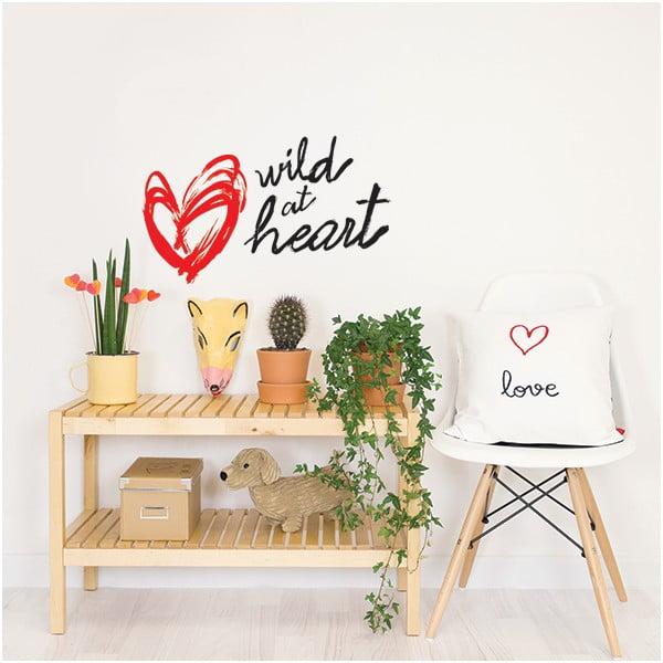Dekorativní samolepka na zeď Wild at Heart