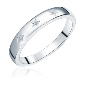 Stříbrný prsten s pravým diamantem Tess Diamonds Dominica, vel.56
