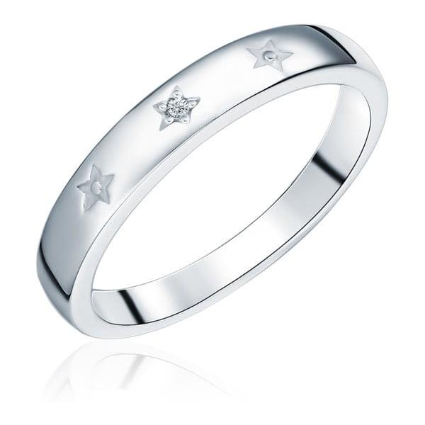 Dominica ezüst gyűrű valódi gyémánttal, méret 54 - Tess Diamonds