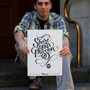 Plakát Share Your Passion, 41x30 cm