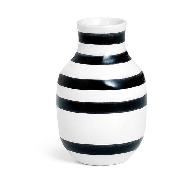 Omaggio fekete-fehér agyagkerámia váza, magasság 12,5 cm - Kähler Design