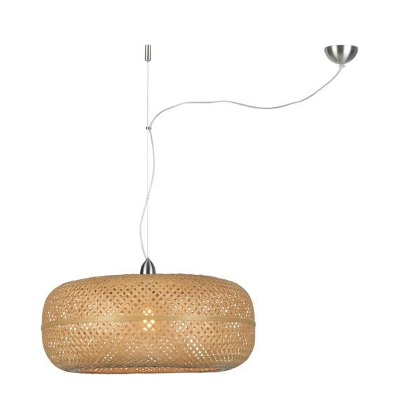 Hnedé bambusové závesné svietidlo Good&Mojo Palawan, ⌀ 60 cm