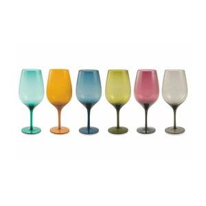 Sada 6 barevných sklenic na víno Villa d´Este Happy Goblets
