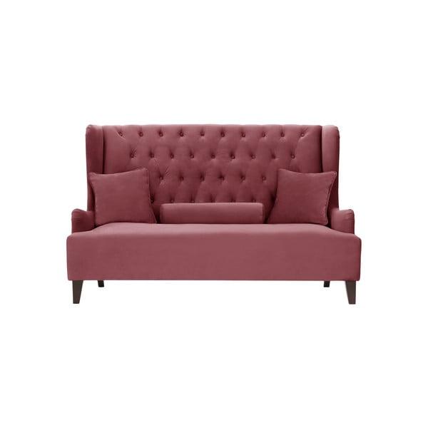 Ciemnoróżowa sofa 2-osobowa Rodier Intérieus Flanelle