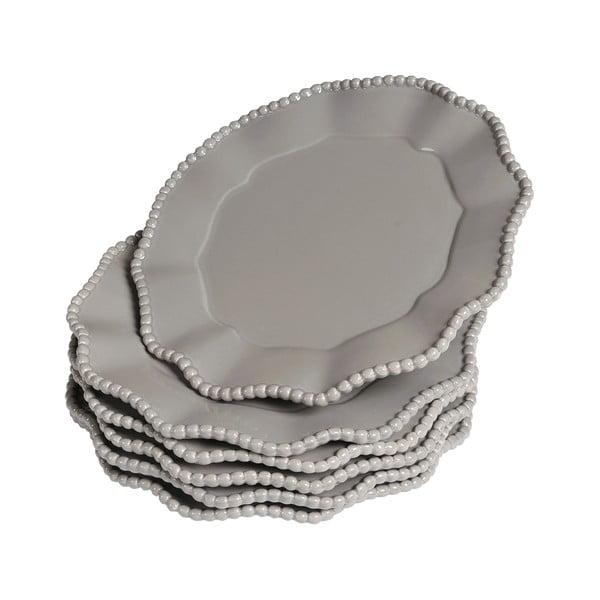 Sada talířků Parma, 6 ks, šedé