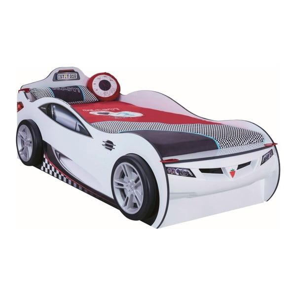 Coupe Carbed With Friend Bed White autó formájú fehér gyerekágy tárolóhellyel, 90 x 190 cm