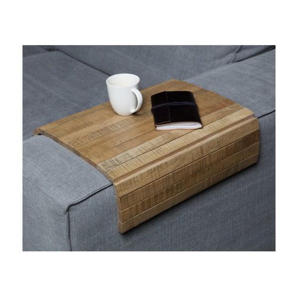 Cotieră flexibilă pentru canapea WOOOD Armrest, maro