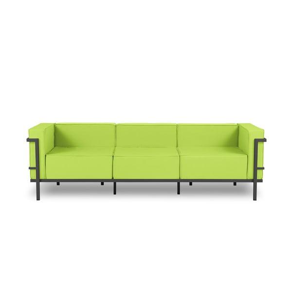 Canapea cu 3 locuri adecvată pentru exterior Calme Jardin Cannes, verde lime - negru