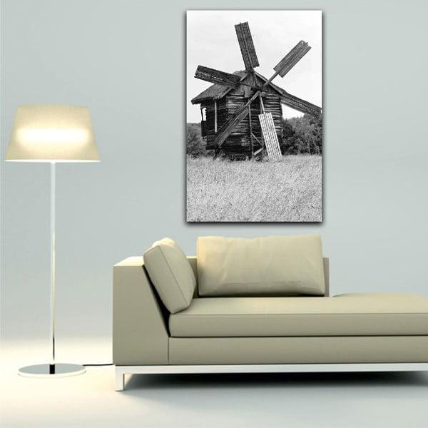 Obraz Black&White Windmill,45x70cm