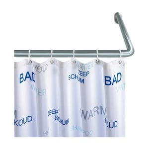 Univerzální rohová tyč ve stříbrné barvě na sprchový závěs Wenko, ø 2 cm