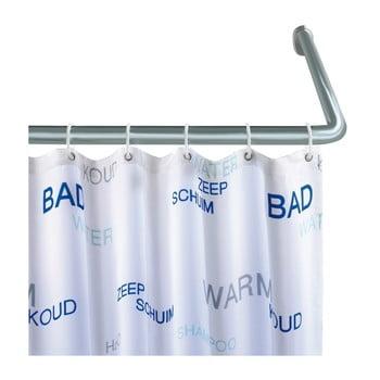 Suport universal argintiu pe colț pentru perdea duș Wenko, ø 2 cm de la Wenko