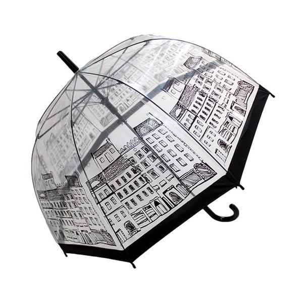 Transparentní deštník Temps City